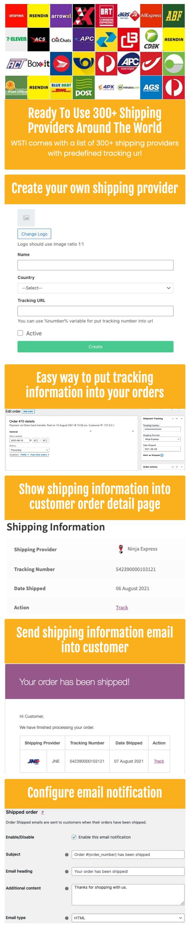 WooCommerce Shipping Tracking Information